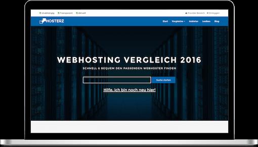 Homepage von Hosterz